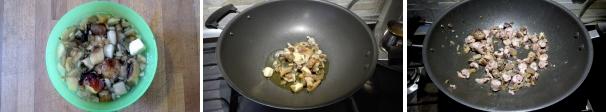 panzerotti con funghi e salsiccia preparazione