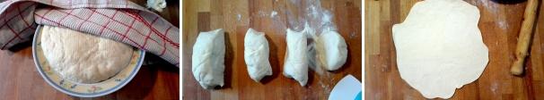 panzerotti con funghi e salsiccia procedimento