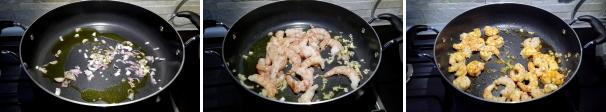risotto gamberoni e carciofi preparazione