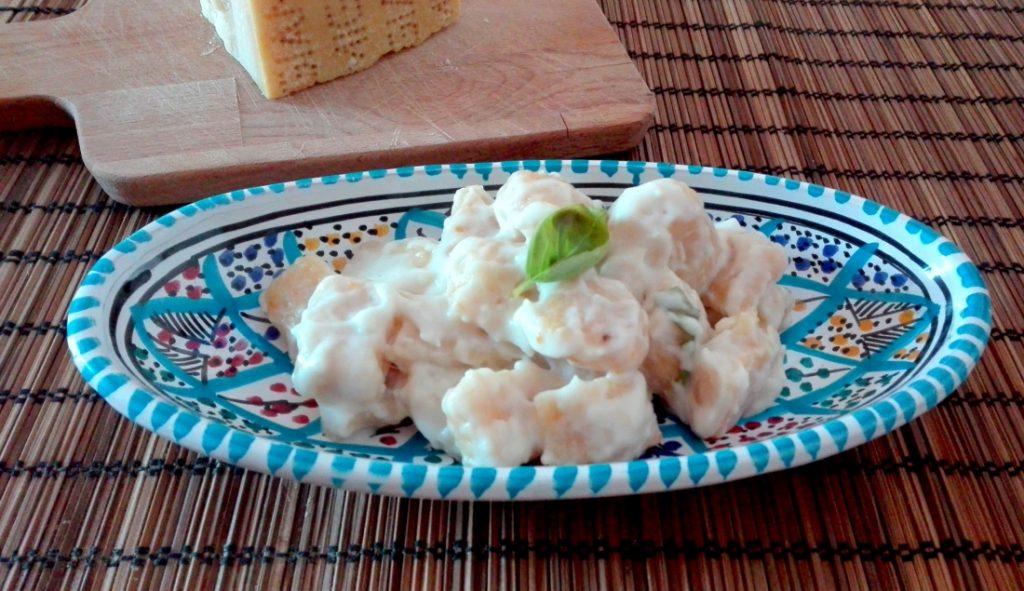 gnocchi di zucca con salsa al parmigliano