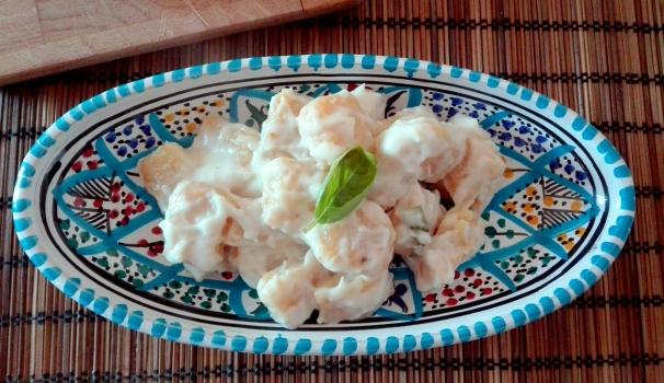 gnocchi di zucca con crema al parmigliano