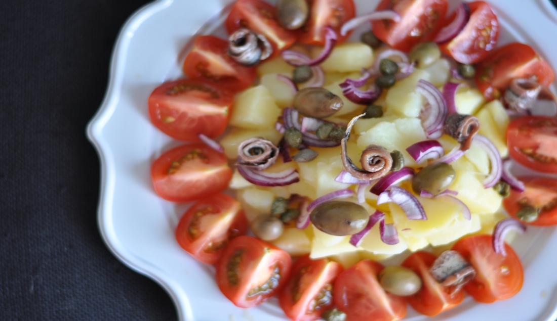 Insalata di patate mediterranea