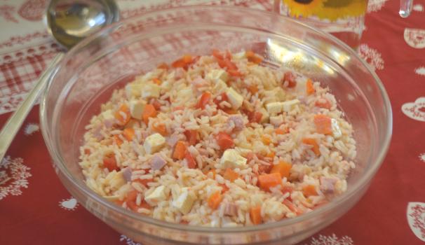 insalata di riso light foto fine procedimento