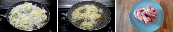 pasta alla genovese con salsiccia preparazione