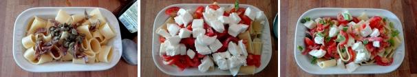 pasta fredda pomodorini e mozzarella procedimento