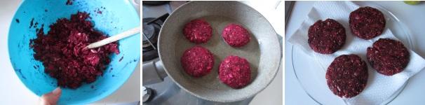 Hamburger di barbabietole veloci