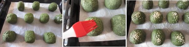 Panini con alga spirulina profumati