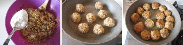Polpette di grano saraceno in umido saporite
