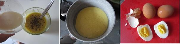 Uova in salsa di senape saporite