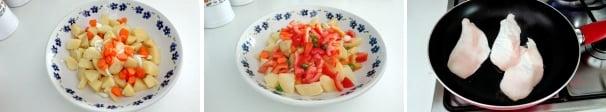 insalata di pollo e patate preparazione
