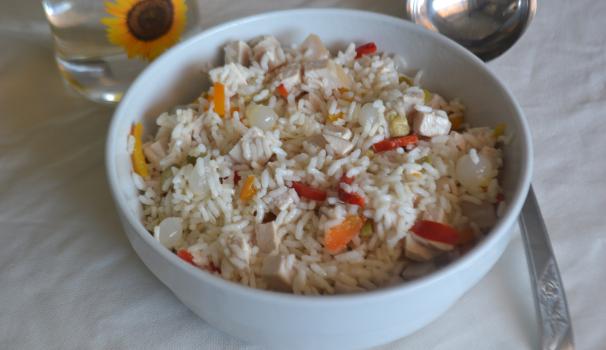 insalata di riso con pollo fine procedimento