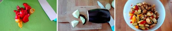 pasta fredda con verdure preparazione