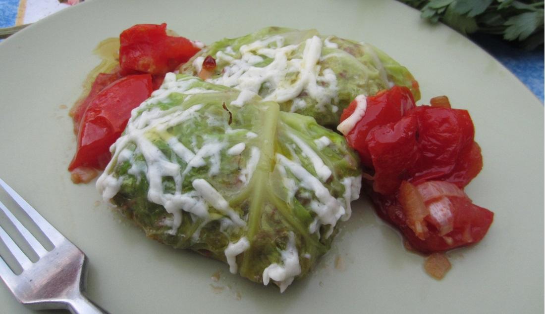 Involtini di verza con pomodori
