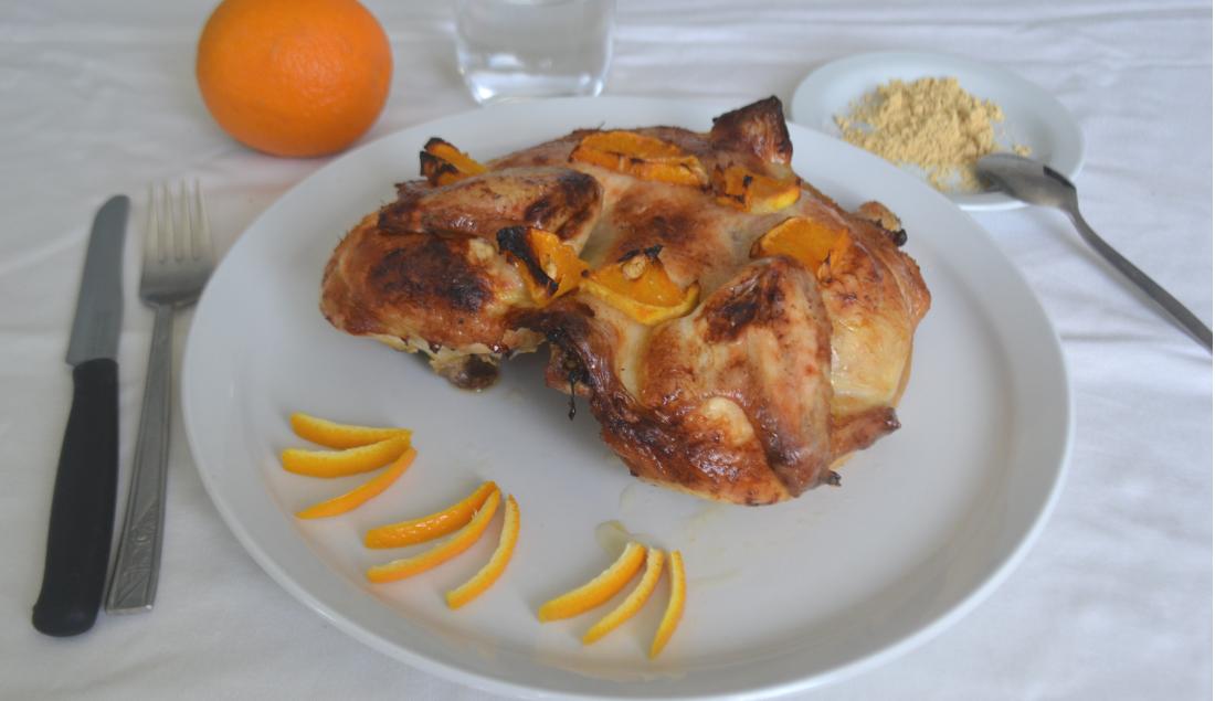 pollo arrosto arancia e zenzero foto principale