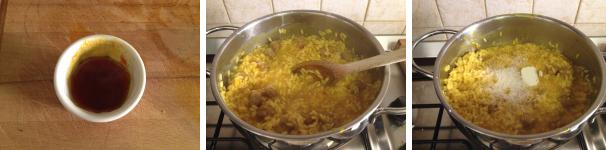 risotto allo zafferano con salsiccia proc 5