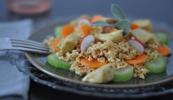 Bulgur con pollo e verdure ricetta passo a passo
