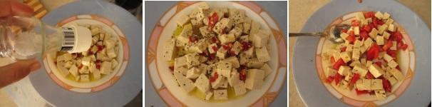 Crostini con tofu piccante facili