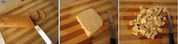 Crostini con tofu piccante procedimento