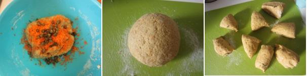 Muffin con tofu, carote e capperi con lievito fresco