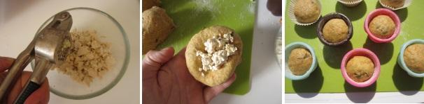 Muffin con tofu, carote e capperi soffici