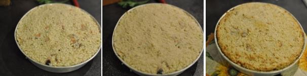 Sformato di riso, prosciutto, funghi e scamorza come fare passo a passo