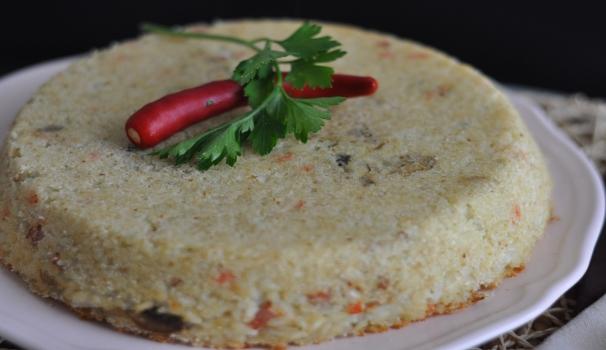 Sformato di riso, prosciutto, funghi e scamorza risultato finale