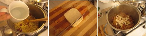 Stufato di cavolo e tofu saporito
