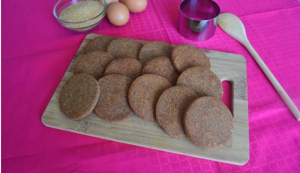 biscotti con farina di fagioli foto fine procediemento