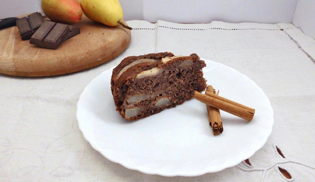 torta di pere e cioccolato con bimby presentazione
