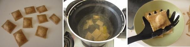 Ravioli con cuore di formaggio liquido veloci