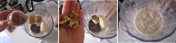 Smoothie con banane e semi di chia nutriente