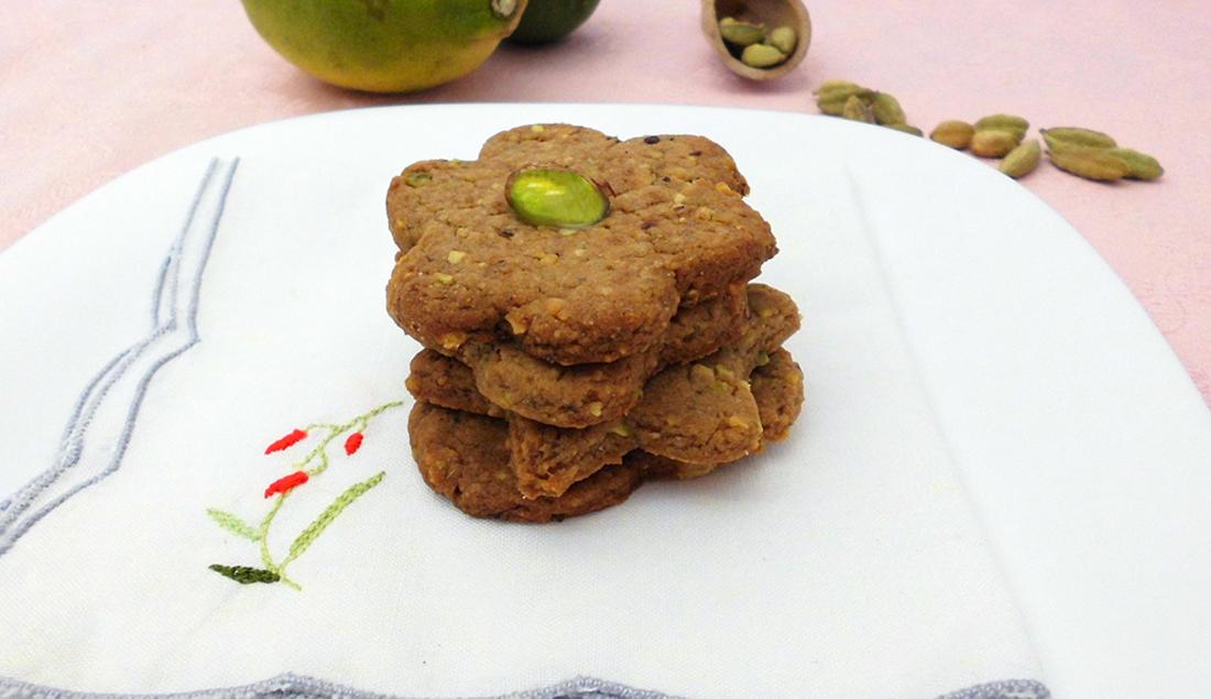 biscotti pistacchi e cardamomo