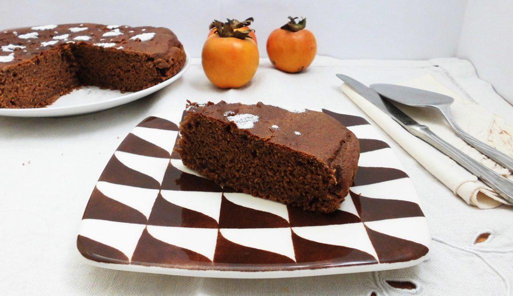 torta cachi e cacao con bimby