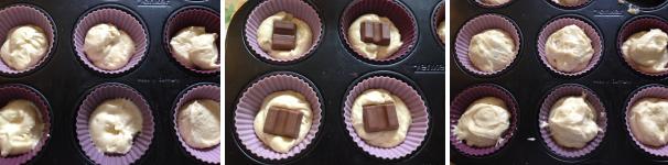 muffin ripieni di cioccolato kinder proc 2