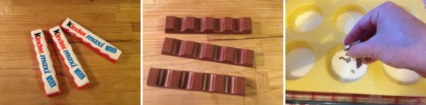 panna cotta con cioccolato kinder proc 3