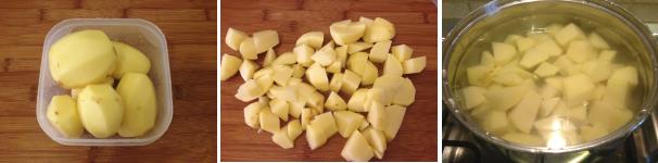 rotolo di pasta sfoglia con mortadella e patate