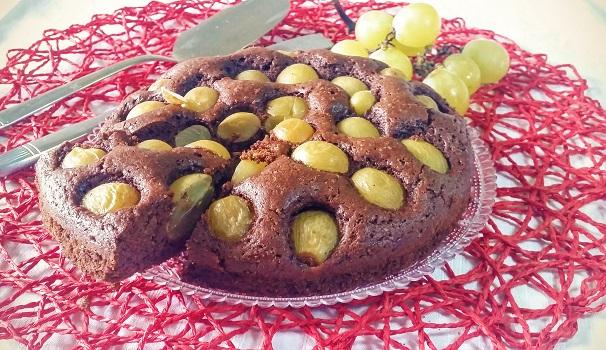 torta cacao e uva