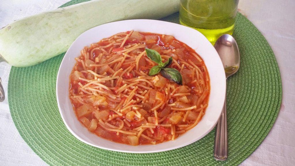 minestra di pasta e zucca