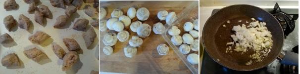Gnocchi di castagne con ragù di funghi facile