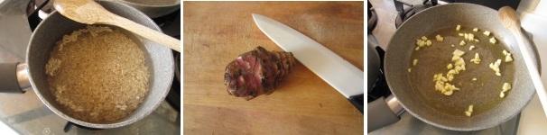 Risotto con topinambur, gorgonzola e noci procedimento