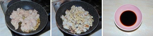 pollo con mandorle