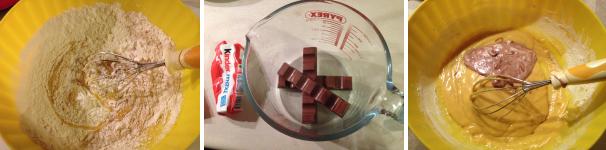 ciambelline con cioccolato kinder proc 2