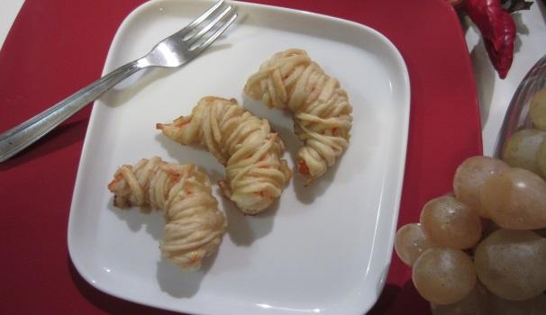 Gamberi in pasta kataifi