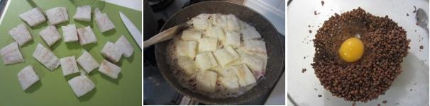 Rosti di lenticchie rosse con baccalà al pomodoro