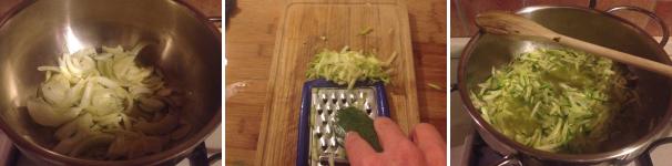risotto alla crema di zucchine con gamberi proc 1