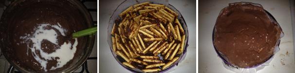 torta di biscotti e budino al cioccolato proc 3