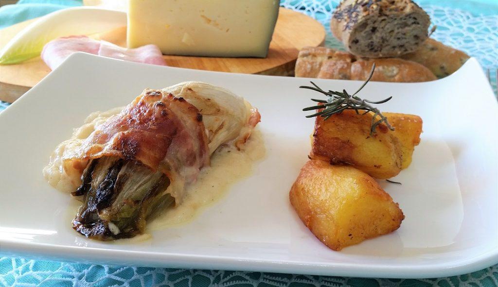 indivia belga con pancetta e formaggio