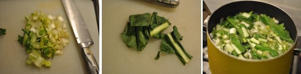 Linguine con cicoria e pancetta