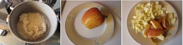 Risotto com mele e cannella e pecorino
