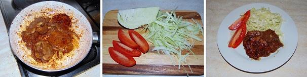 zenzero fresco, salsa di soia con maiale